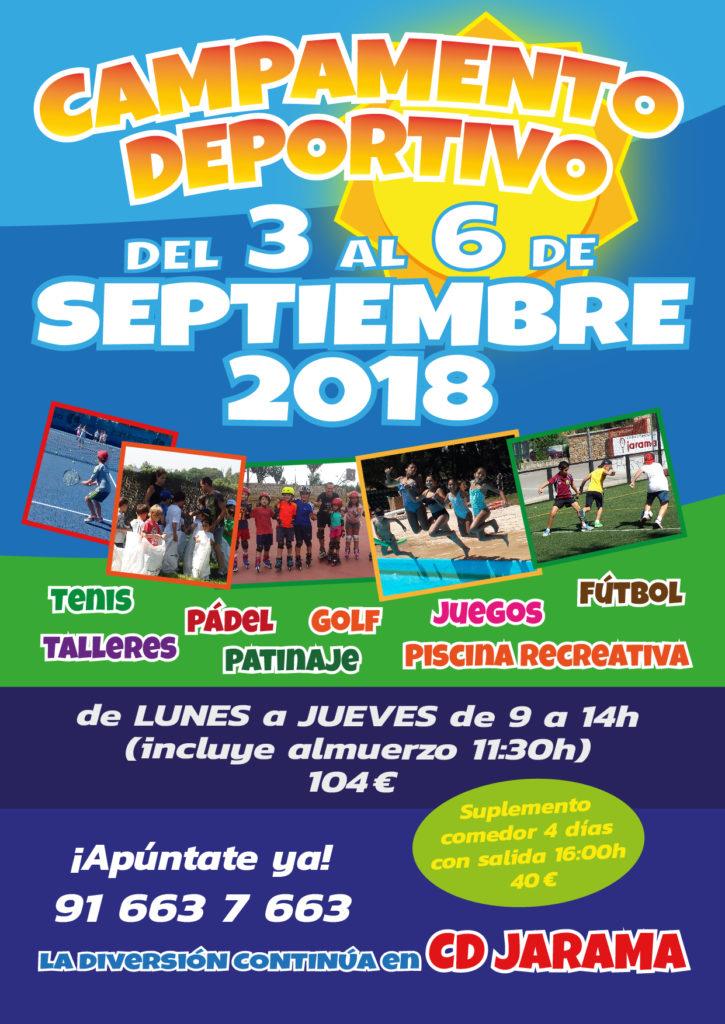 Campamento infantil septiembre