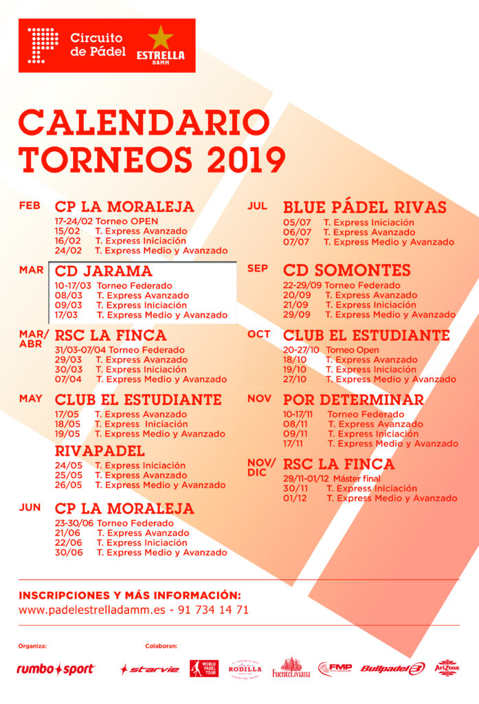 Circuito de padel Estrella Damm 2019