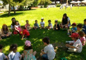 Organizacion Family Day actividad con niños